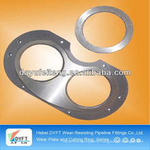 PM spectacle wear plate and cutting ring