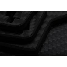 3k glossy silver carbon fiber veneer cfrp sheets