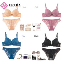 Low MOQ for for Satin Female Bra Set women's cheap lace bra and panty sets export to Portugal Manufacturers