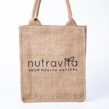 Promotional Fashion Natural Plain Linen Shopping Bag Hemp Jute Custom Printed Logo Tote Bags