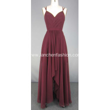 Burgandy Long Formal Dresses Celebrity Prom Dresses