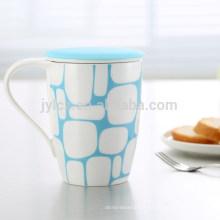 Tasse à thé 350cc avec filtre en céramique et couvercle en silicone