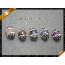 Mezcla de piedras de piedras preciosas con cristal de diamantes de imitación para las pulseras de fabricación, piedra de joyería al por mayor (ff0111)