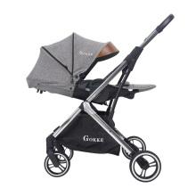 Carrinho de bebê conversível com assento reversível 3 em 1 carrinho