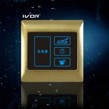 3 Gangs Szene Lichtschalter mit Master Control Touch Schalter (SK-T3000S3-M)