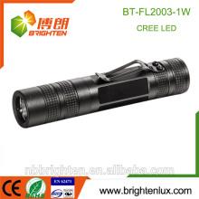 Werbe-Taschen-Größe Aluminium Matal Material Kleine leistungsstarke helle 1watt Led Taschenlampe Mini-LED-Taschenlampe mit einer Batterie