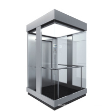 Used transparent glass panoramic elevator with safety observation wall