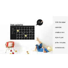 MOQ 500 Uv Resistant Decal Chalkboard Calendar Wall Sticker