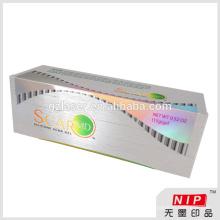Nein In Tinte gedruckt Luxus 3d Hologramm Box, Kosmetik Verpackung Box