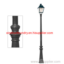 Sand Casting Iron Lighting Pole For Garden Park Street