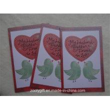 Diseño personalizado Impresión de tarjetas de felicitación de papel con textura con envolvente
