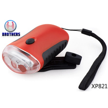 Hand Crank Rechargeable Dynamo LED Torch (XP821)