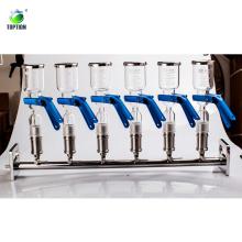 Sistema de filtro solvente multi-ramificación del sostenedor de cristal de la alta calidad