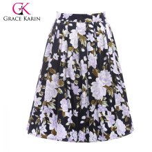 19 Colors ! Grace Karin Cheap Occident Short Vintage Floral Print Cotton 50s Retro Skirt CL6294-9#