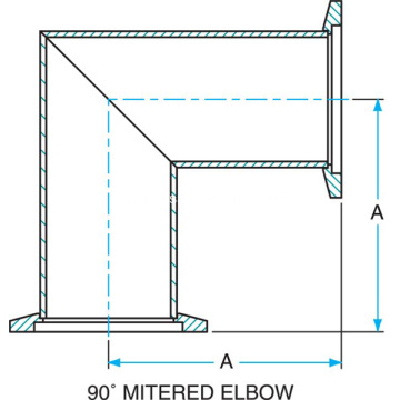 KF 90Degree Mitre Elbow SS304