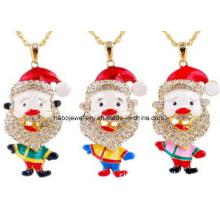 Jóias de natal / natal colar / pai natal (xjw13344)