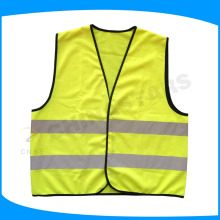 EN20471 Class 2 reflective safety gilet with hook and loop fastener