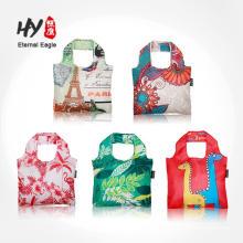 Chinese paintings printed foldable waterproof bag
