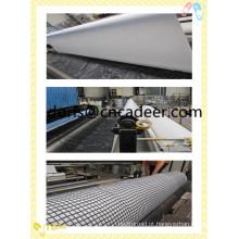 Composto de geogrelha de fibra de vidro com geotêxtil de fibra de poliéster