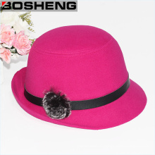 Теплый Sweet Lady Wide Brim Felt Bowler Floppy Cloche Hat