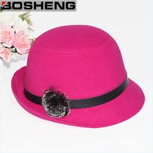 Señora dulce caliente del sombrero de cloche flojo de la aleta del borde grande del borde