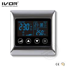 Termóstato de habitación programable LCD grande con refrigeración y calefacción