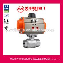 304 2PC Ball Valves Pneumatic Actuator Ball Valves