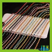 rouleau couleur laiton 3mm fermer verre cristal strass tasse chaîne
