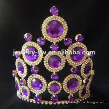 Fashion purple Rhinestone Diamond Wedding Tiara concours couronnes à vendre