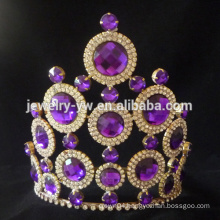 Fashion purple Rhinestone Diamond Wedding Tiara pageant crowns for sale
