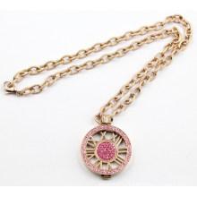 Модное вечернее платье из ожерелья с розовым хрусталем