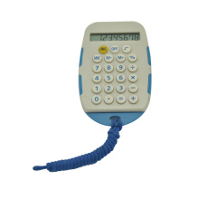 8 Digit Mini Handheld Calculator with Lanyard