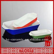 Bandeja para hornear cerámica negra, bandeja para hornear microondas