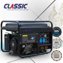CLASSIC (CHINA) Generador de gasolina de soldadura 5kw fiable, ahorro de combustible 15hp generador de gasolina