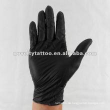 N201-30 Neuheit Tattoo Einmalschwarze Handschuhe