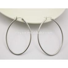 Aretes de plata pendientes ovales pequeños aretes para mujer