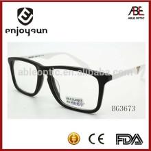 Cadre de lunettes optiques acétate unisexe fabriqué à la main à chaud avec CE & FDA