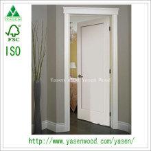 Flat Panel Engineering White Wooden Door