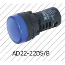 Luz indicadora de 22mm, lâmpada de sinal de 16mm, azul branco, verde, vermelho amarelo