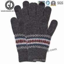 Moda invierno cálido Lady Fashion Jacquard acrílico guante