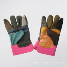 Rainbow Patched Palm Furniture Leather Glove-4007