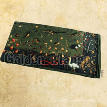 Fahsion квадратный шелковый шарф с цифровой печатью