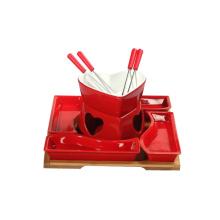 Set de mini pote caliente de color rojo