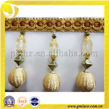 Elegant Fashion Tassel Curtain Decoration Trim Fringe With Glass Beads