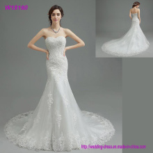 OEM Sweatheart A-Line embroidery  Sexy Backless Bridal Gown Train Lace Wedding Dresses