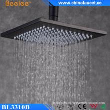 Cuarto de baño lluvia 10 pulgadas negro pintado ducha inoxidable de la mezcla