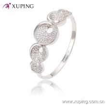 51454 moda elegante ródio cz jóias com diamantes pulseira com para as mulheres