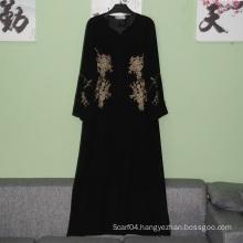 Hotsale elegant abaya elegant baju kurung islamic maxi dress simple muslim long dress winter abaya