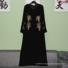 Hotsale élégant abaya élégant baju kurung islamique maxi robe simple musulman longue robe hiver abaya