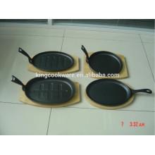Característica Eco-Amigável e FDA, Certificação do GV antiaderente panelas de ferro fundido / ferro fundido placa sizzler